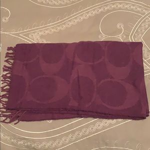 Coach purple scarf